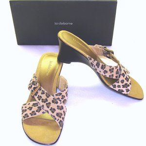 Shoes - New leather leopard slides shoes mules sandles
